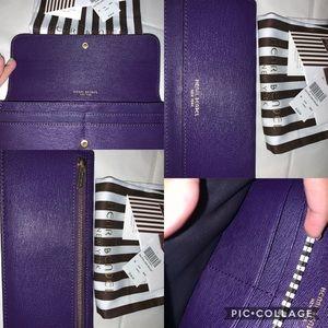 Henri Bendel Dalton Long Wallet in purple